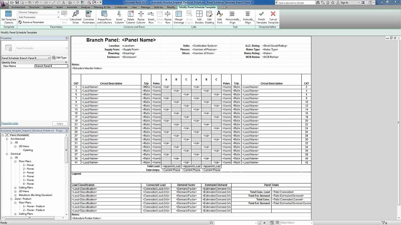 Electrical Panel Schedule Template Download Lovely Revit for Mep Electrical Systems Panel Templates