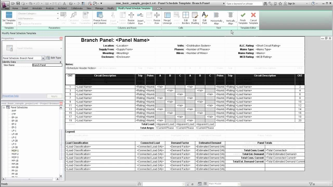 Electrical Panel Schedule Template Download Luxury Autodesk Revit Mep Panel Schedule Templates