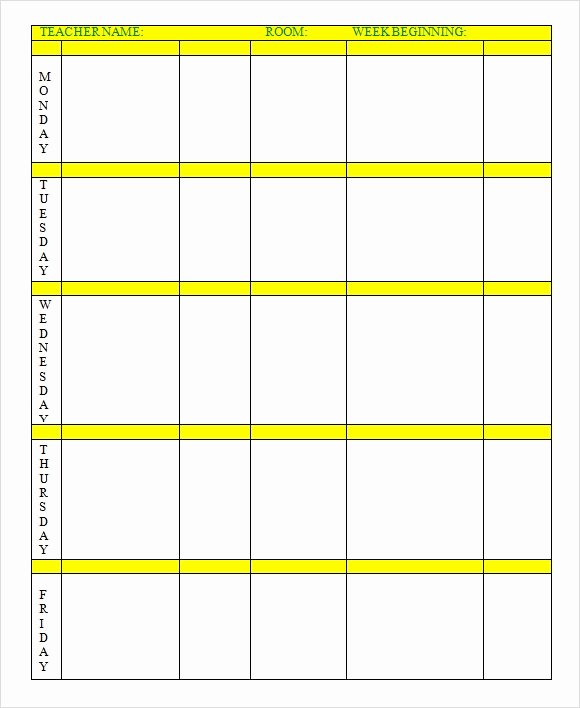 Elementary Lesson Plan Template Word Elegant Free 7 Sample Weekly Lesson Plans In Google Docs