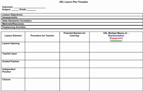 Elementary Lesson Plan Template Word Lovely 41 Free Lesson Plan Templates In Word Excel Pdf