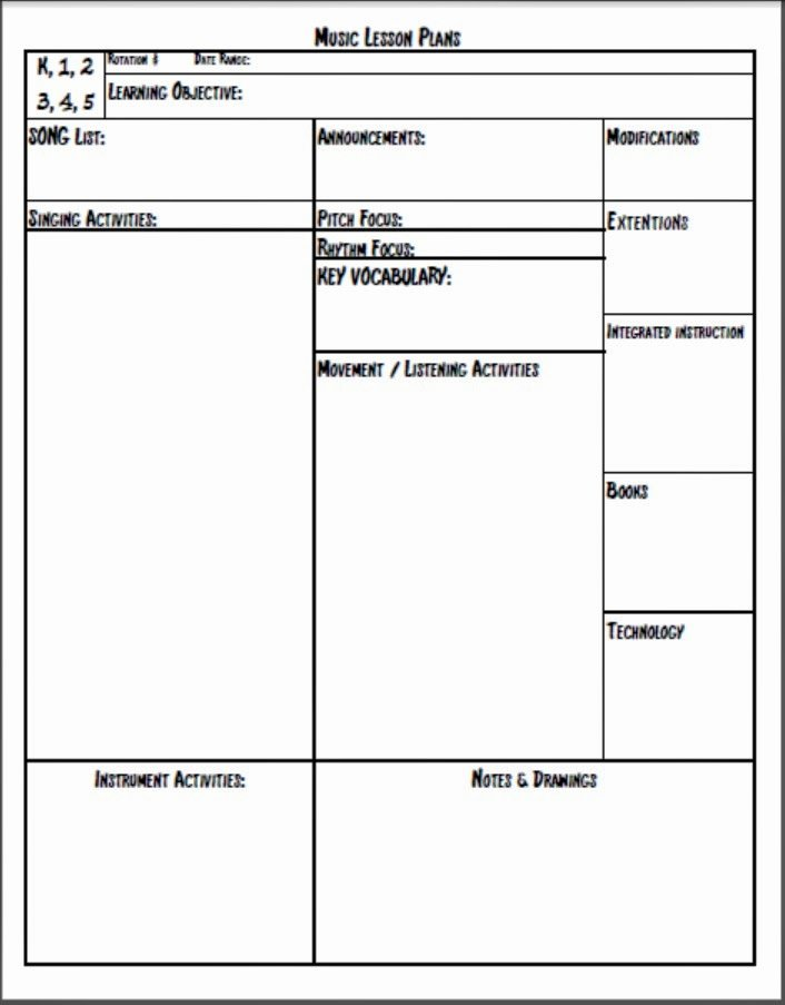 Elementary Lesson Plan Template Word New Melodysoup Blog Music Lesson Plan Template