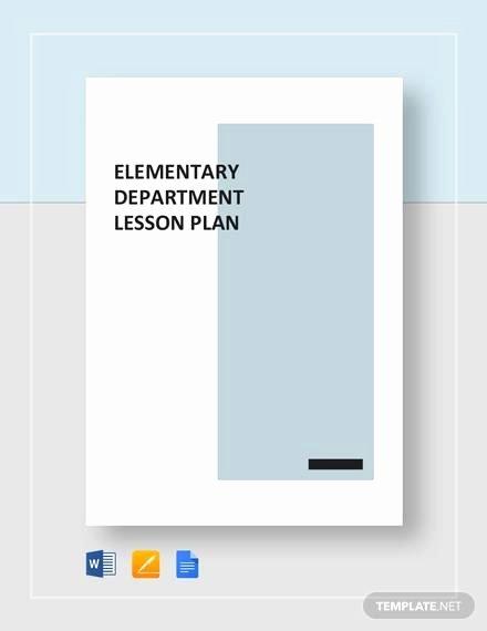 Elementary Math Lesson Plan Template Elegant Sample Elementary Lesson Plan Template 8 Free Documents