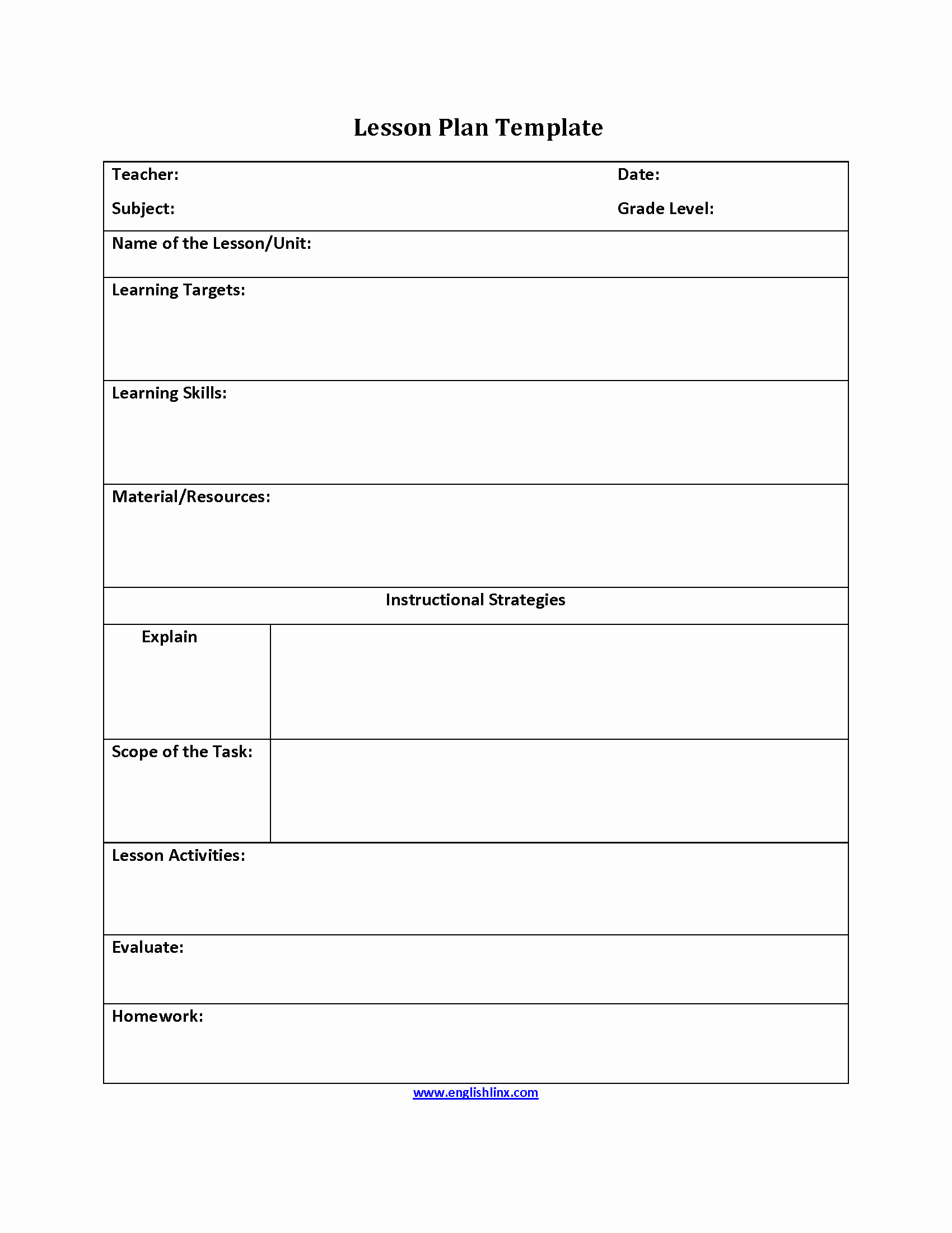 Elementary Math Lesson Plan Template Lovely What is Lesson Plan Template