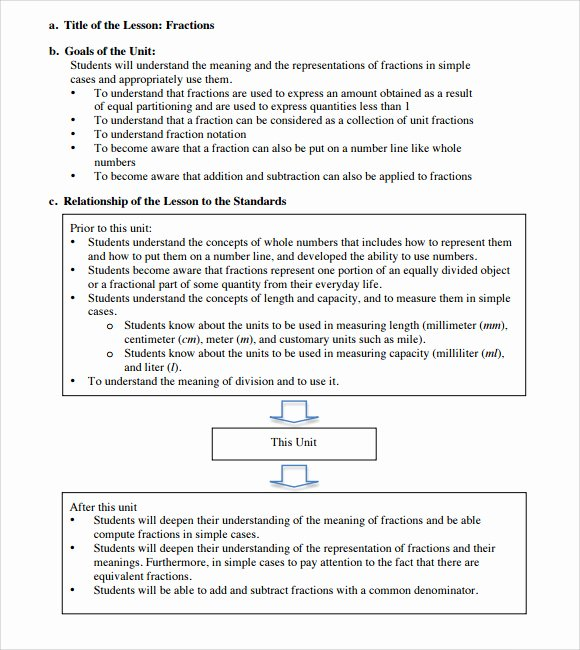 Elementary School Lesson Plans Template Fresh Sample Elementary Lesson Plan Template 8 Free Documents