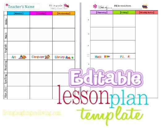 Elementary Weekly Lesson Plan Template Luxury Cute Lesson Plan Template… Free Editable Download