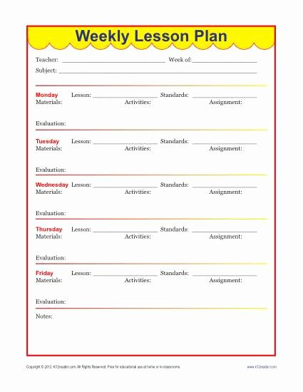 Elementary Weekly Lesson Plan Template Unique Weekly Detailed Lesson Plan Template Elementary