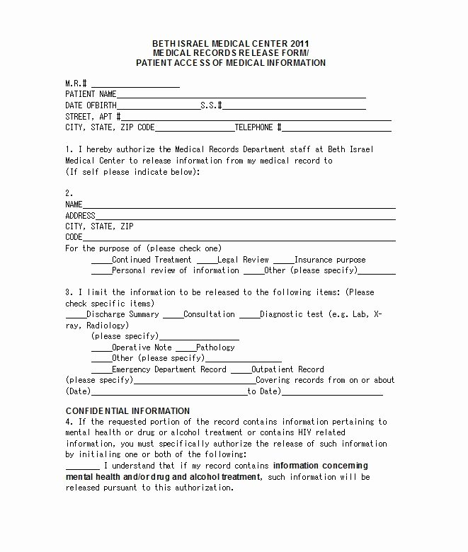 Emergency Room form Template Lovely 30 Medical Release form Templates Free Template Downloads