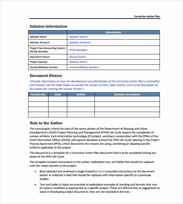 Employee Corrective Action form Template Awesome Employee Corrective Action form