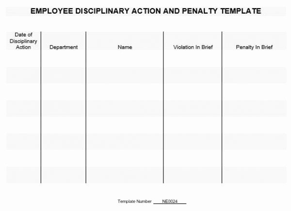 Employee Disciplinary form Template Free Beautiful Free Printable Employee Discipline form Template 4983