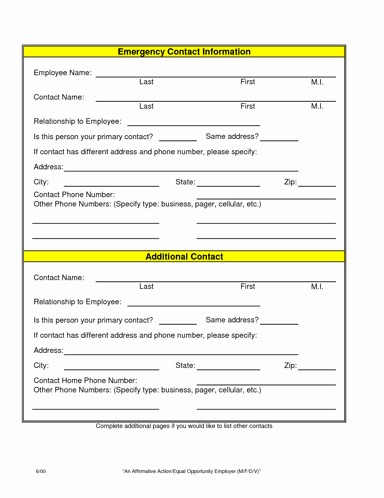 Employee Emergency Contact form Template Inspirational Index Of Cdn 9 2009 935