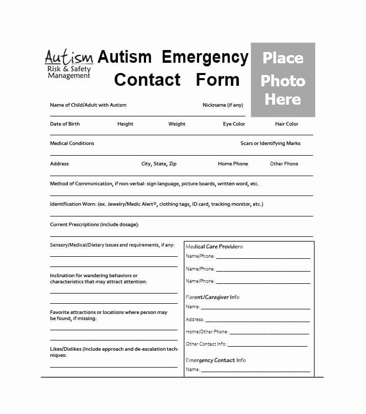 Employee Emergency Contact form Template Lovely 54 Free Emergency Contact forms [employee Student]