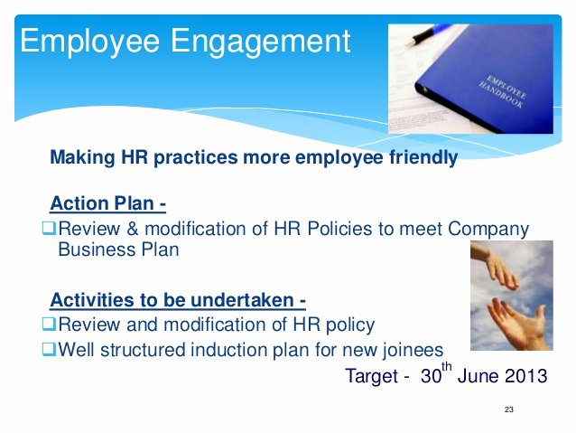 Employee Engagement Action Planning Template Beautiful Annual Business Plan Hr Template Play This In Slide Show