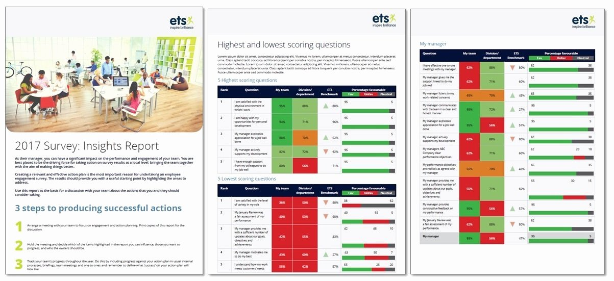 Employee Engagement Action Planning Template Elegant Employee Survey Reports How to Share Results and Sample