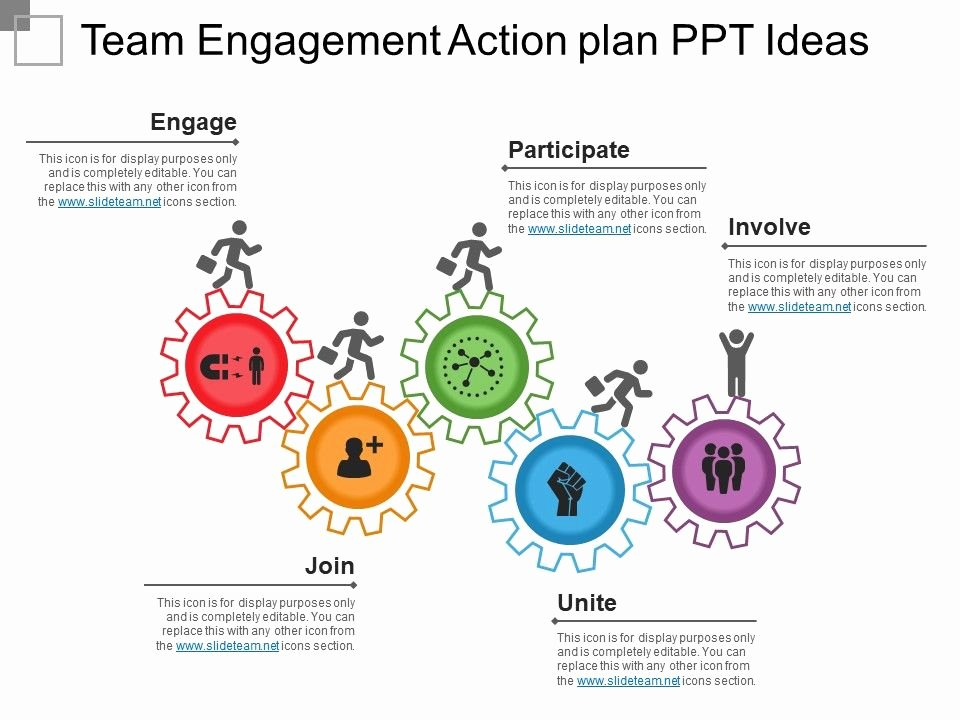 Employee Engagement Action Planning Template Lovely Team Engagement Action Plan Ppt Ideas Templates