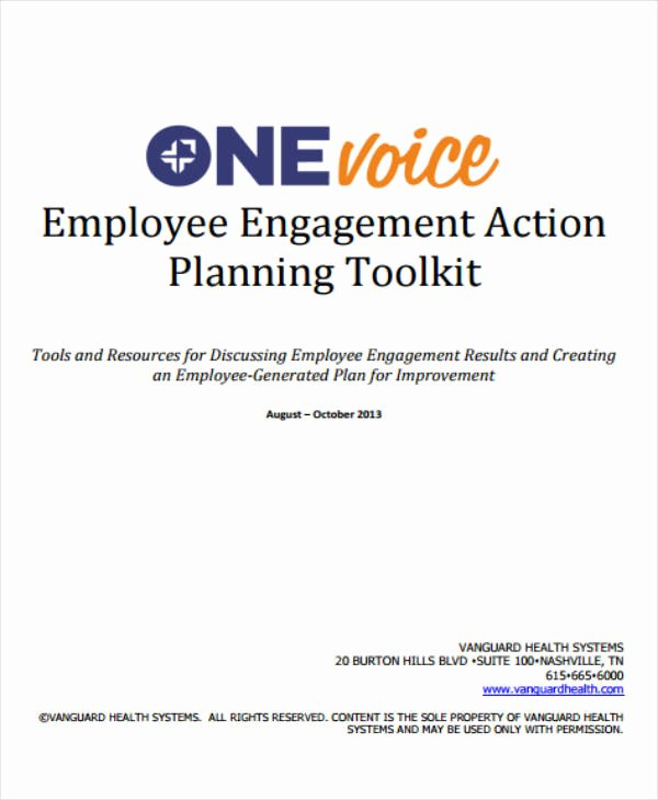 Employee Engagement Action Planning Template Unique 12 Employee Action Plan Templates Pdf