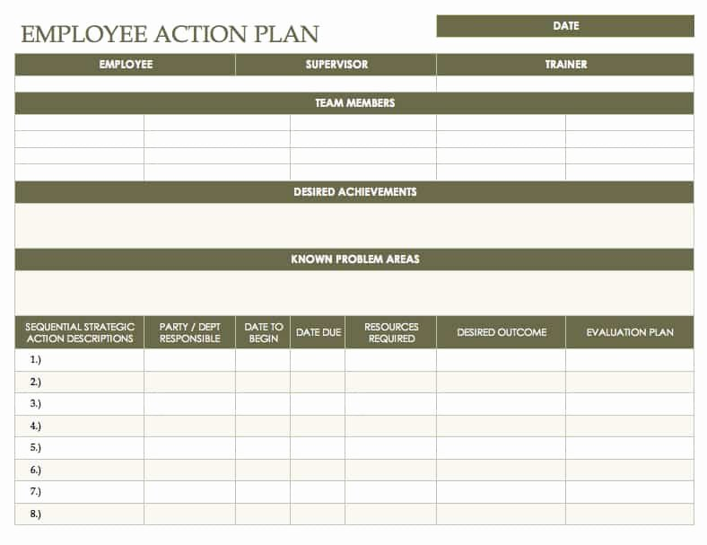 Employee Improvement Plan Template Awesome Free Action Plan Templates Smartsheet