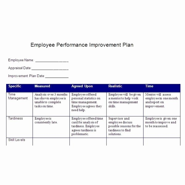 Employee Improvement Plan Template Fresh Smart Action Plan Template