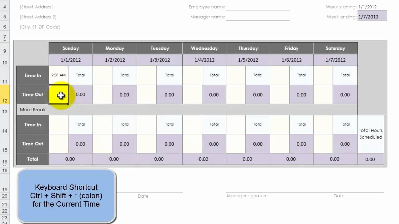 Employee Lunch Schedule Template Best Of Use An Excel Template to Create 52 Weeks Of Employee Time