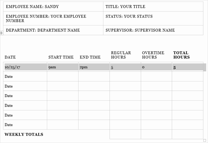Employee Lunch Schedule Template Luxury Need A Timesheet Template to Track Your Hours Here are 12