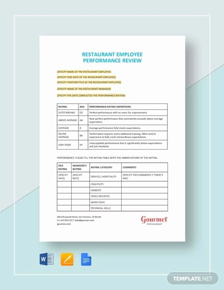 Employee Performance Appraisal form Template Fresh 13 Performance Review form Examples Pdf