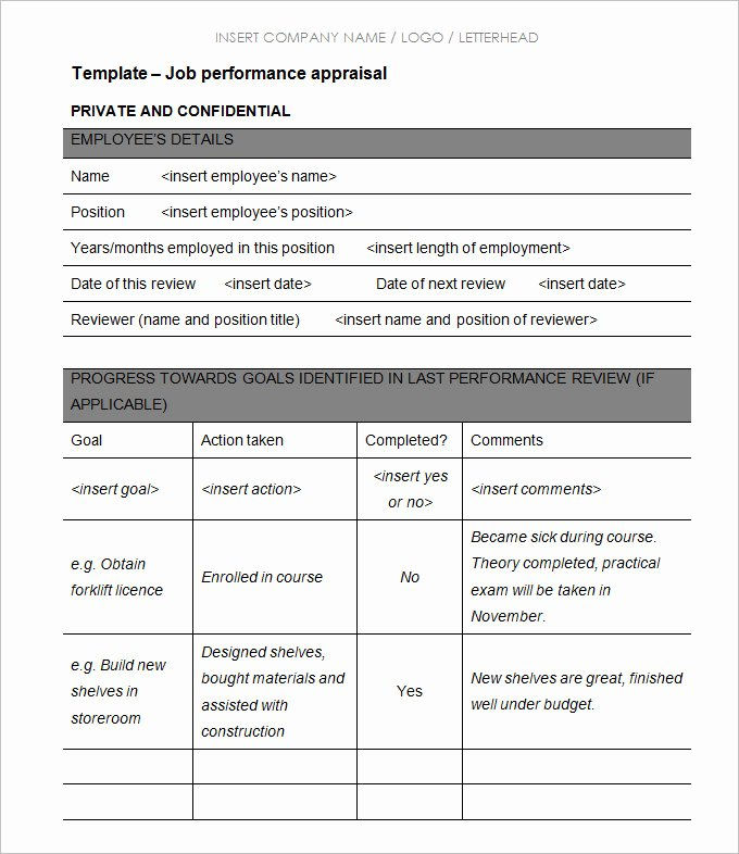 Employee Performance Appraisal form Template Unique 13 Sample Hr Appraisal forms Pdf Doc