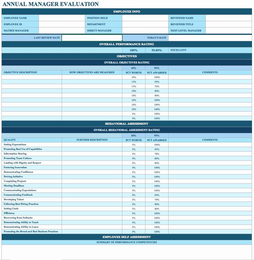 Employee Performance Review Template Free Best Of Free Performance Review Template