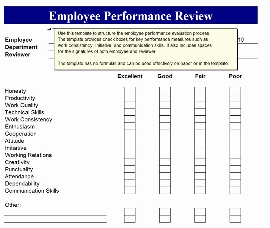 Employee Performance Review Template Free Inspirational Sales Employee Performance Review Template