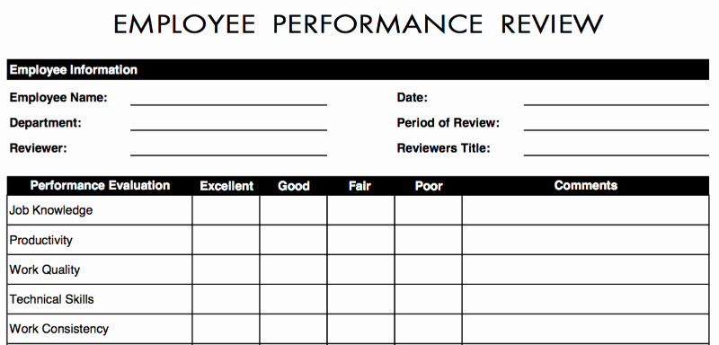 Employee Performance Review Template Word New 70 Free Employee Performance Review Templates Word Pdf