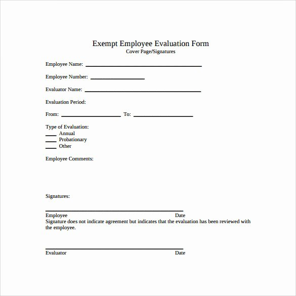 Employee Review form Template Unique Free Employee Evaluation forms Printable