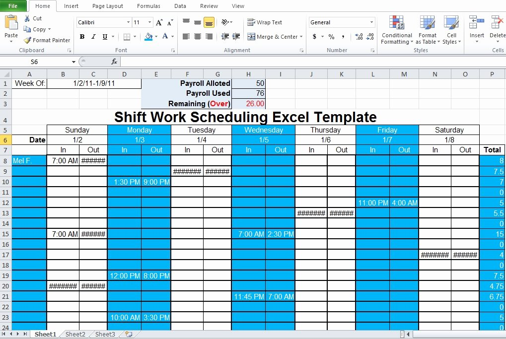 Employee Schedule Template Excel Elegant Employee Shift Schedule Generator Excel Template Excel Tmp