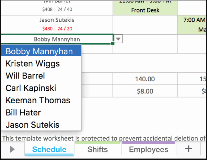 Employee Schedule Template Excel Fresh Free Excel Employee Scheduling Template