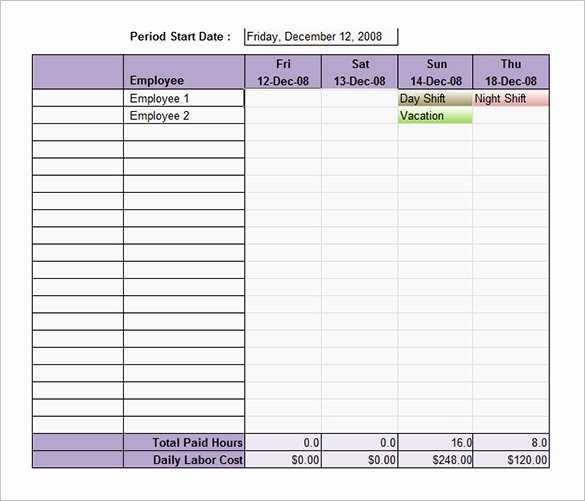 Employee Schedule Template Excel New Employee Shift Schedule Template 15 Free Word Excel