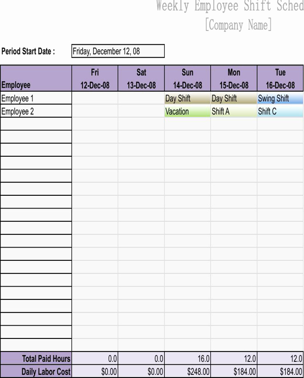 Employee Schedule Template Free Download Awesome Download Employee Work Schedule Template for Free