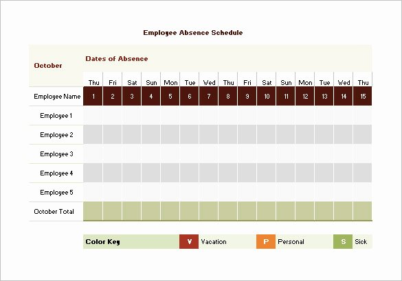 Employee Schedule Template Free Download Beautiful 10 Vacation Schedule Templates Docs Excel Pdf