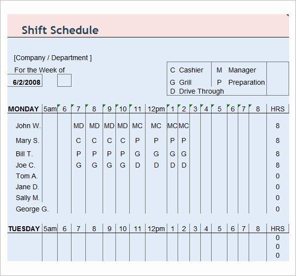 Employee Schedule Template Free Download Best Of Free18 Employee Schedule Samples In Google Docs
