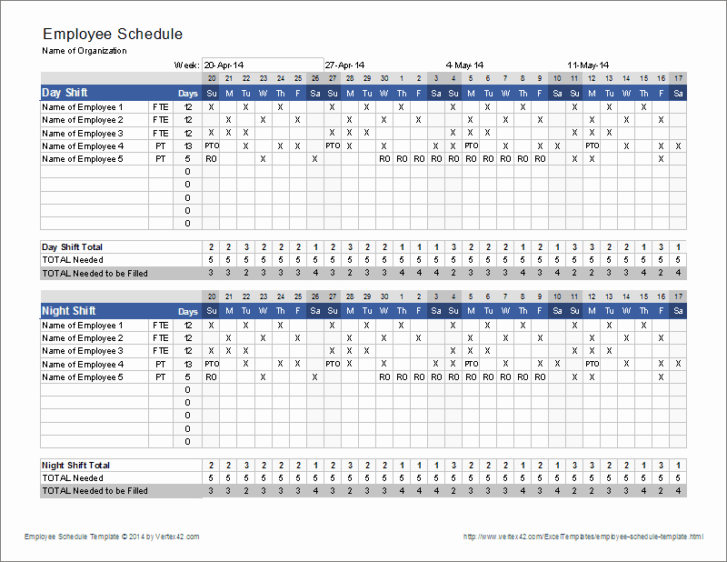 Employee Schedule Template Free Download Fresh Employee Schedule Template