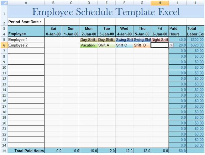 Employee Schedule Template Free Download Lovely Download Employee Schedule Template Excel