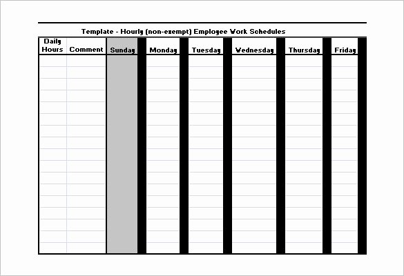 Employee Schedule Template Free Download Unique Employee Work Schedule Template 17 Free Word Excel