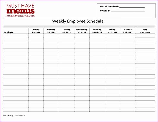Employee Schedule Template Word Unique 8 Employee Work Schedule Template Excel Exceltemplates