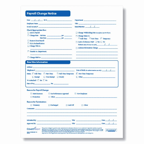 Employee Status Change form Template Beautiful Payroll Change form for Documenting Employee Payroll Changes