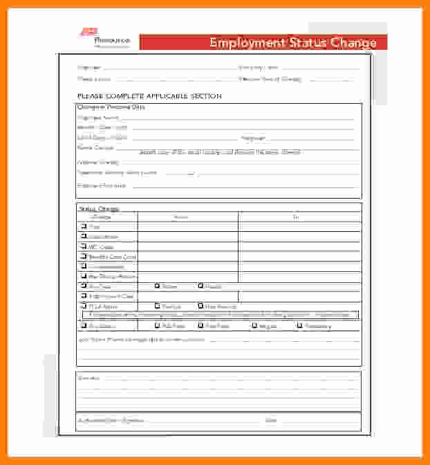 Employee Status Change form Template Lovely 8 Adp Payroll forms