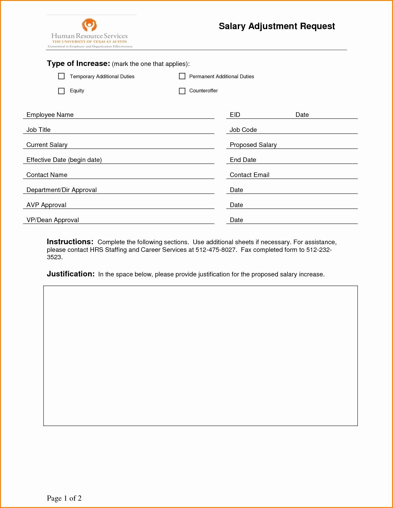 Employee Status Change form Template Unique 9 Salary Change form Template