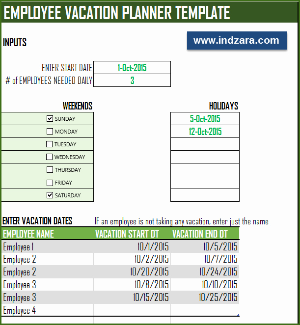 Employee Vacation Planner Template Excel Elegant Employee Vacation Planner Free Hr Excel Template for