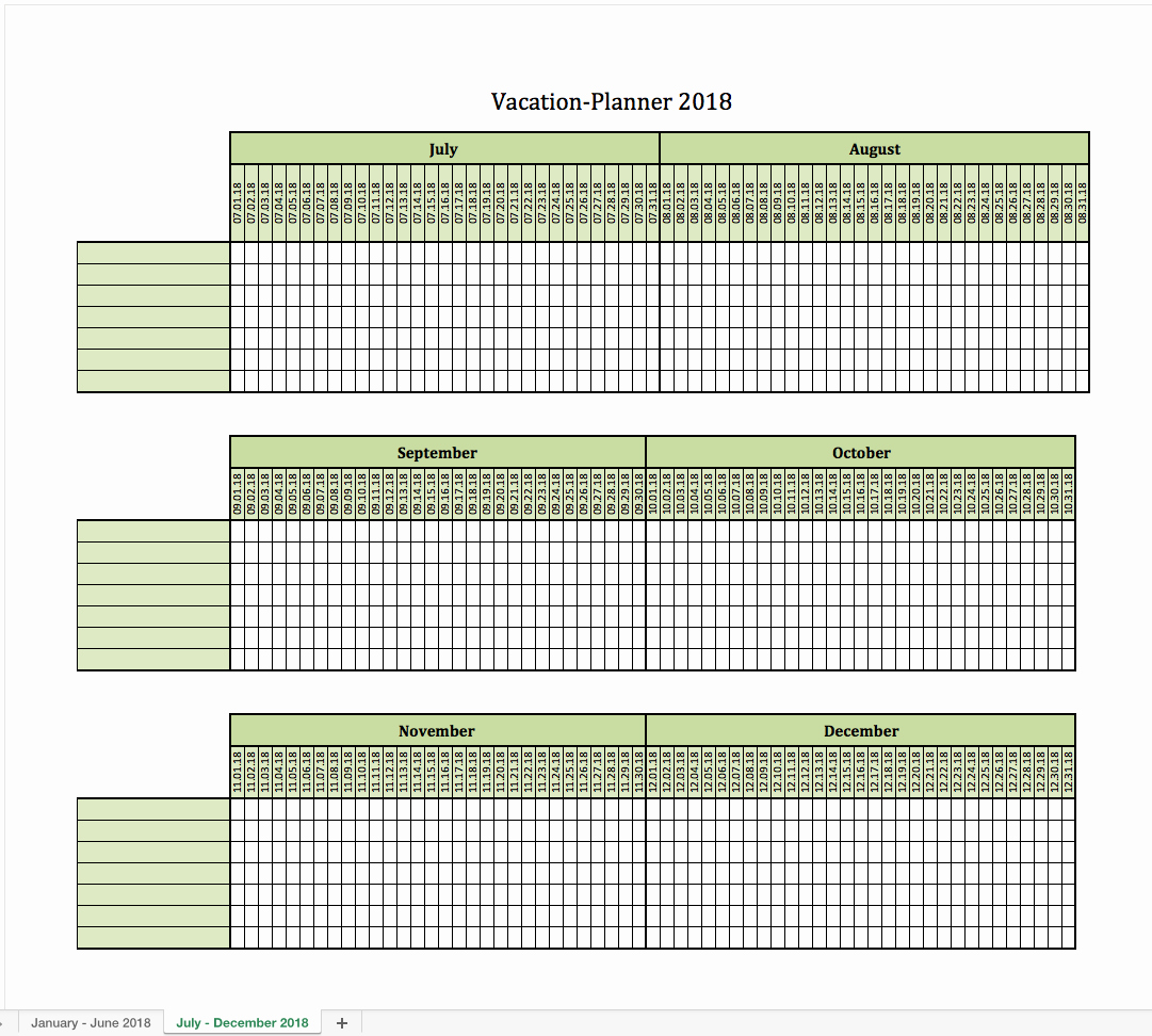 Employee Vacation Planner Template Excel Elegant Vacation Planner 2018