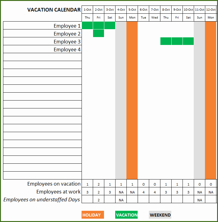 Employee Vacation Planner Template Excel Luxury Employee Vacation Planner Free Hr Excel Template for