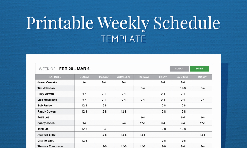 Employee Weekly Work Schedule Template Beautiful Employee Work Scheduling software Free Mobile Apps