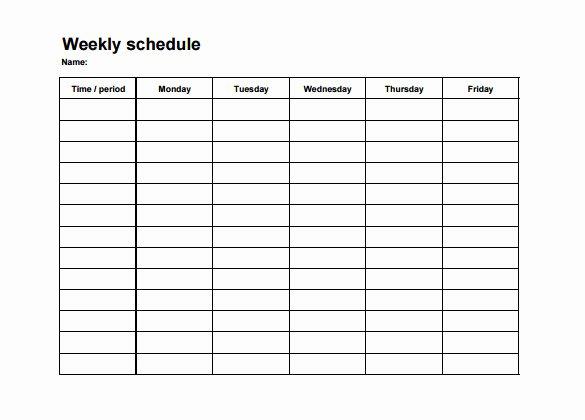 Employee Weekly Work Schedule Template Inspirational Weekly Employee Shift Schedule Template Excel – Planner