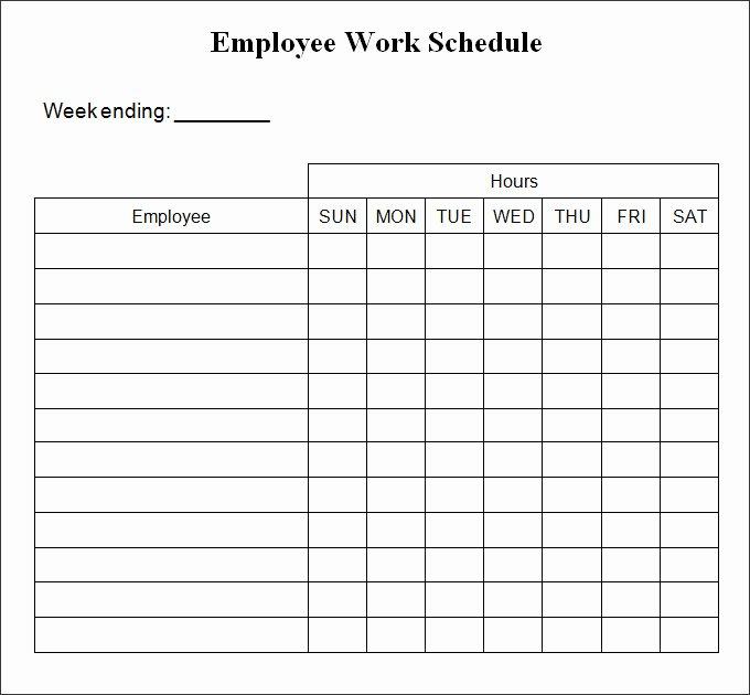Employee Weekly Work Schedule Template New Free Weekly Work Schedule Template Frudgereport494 Web