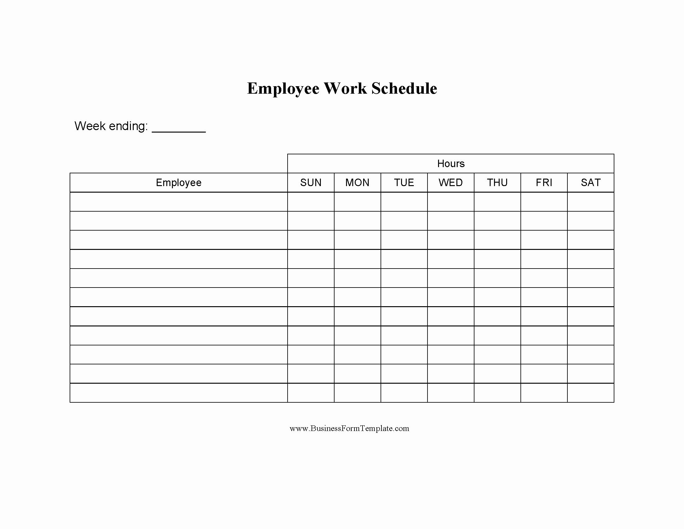 Employee Work Schedule Template Pdf Beautiful Blank Employee Daily Work Schedule Template Word Doc Pdf