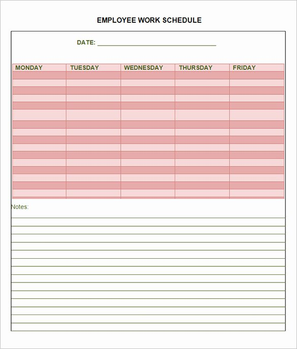 Employee Work Schedule Template Pdf Luxury 18 Employee Schedule Templates Pdf Word Excel